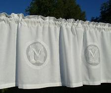 Kurzgardine Mathilde WEISS 55x250 Lillabelle DEKO Shabby Landhaus Curtain