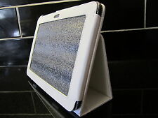 "White PU Leather Carry Case/Cover/Wallet Stand for Samsung Galaxy Tab 8.9"" P7300"