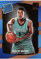 2017-18 Donruss Card #190 - Malik Monk ROOKIE - Charlotte Hornets & Kentucky