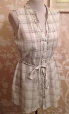 Monsoon Cotton Long Sleeveless Shirt Size 12