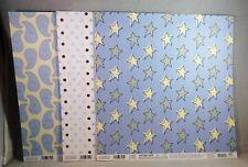 EK Success Baby Scrapbook Paper 12x12 Blue 26 Sheets Stripes Stars Dots Paisley
