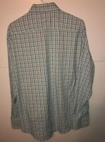 Peter Millar Summer Comfort Men's Shirt Size L Large Long Sleeve Blue Pink White
