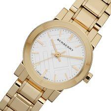 Burberry Women's Swiss Made BU9203 Heritage Gold Tone St Steel White Dial Watch