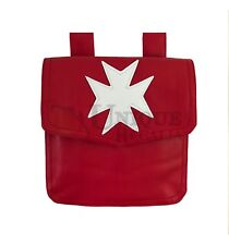 Masonic Knight Malta Alms Red Bag MC064