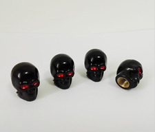 4 x Ventilkappen schwarzes Totenkopf Skulls Universal PKW LKW Motorrad Tuning