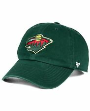 Minnesota Wild 47 Brand Clean Up Hat Adjustable Cap Green