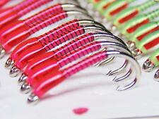 3 X Pink buzzers with red hollo cheeks size 10 trout fishing buzzers best flies