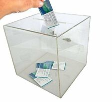source one x-large clear 12 x 12 x 12 wahlurne spendenbox mit easy open