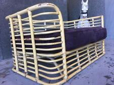 Rare pretzel 50's cane 2 seater sofa lounge Parker Danish era