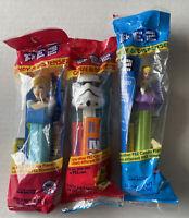 Lot of 3 PEZ Dispensers Disney Cinderella Tinkerbell and Stormtrooper Star Wars