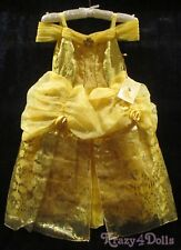 Disney DESIGNER Fairytale Belle Deluxe Girls Princess Costume Dress Size 4