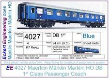 EE 4027 EXC Marklin HO DB 1st Class Blue Passenger Car D-Zug-Wagon Version 3 OBX