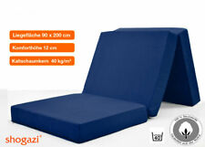 Klappmatratze, Gästematratze Faltmatratze Reisematratze TRAVEL blau 90x200x12cm