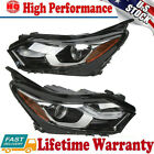 Pair(LH+RH)Factory Halogen LED DRL Chrome Headlights For 2018-2020 Chevy Equinox