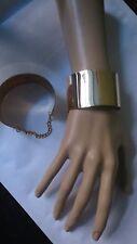 Armreif Armband Armkette bangle mit Kette gold Farbe