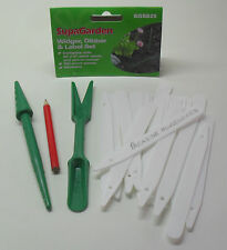 Widger Dibber + 25 Plant Labels & Pencil Potting Seedlings etc Supagarden SGS825