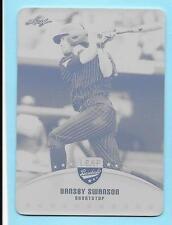 2015 Leaf #6 Dansby Swanson Rookie Black Printing Plate 1/1 Braves