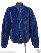 SOLD OUT!!! New Versace Baroque Medusa Blue Velvet Jacket 3XL