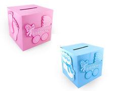 Baby Shower Wishing Well Card Box Decoration Boy Girl Keepsake Carriage