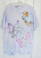 Womens The Mountain Kayomi Harai Fairy Kittens Art Lavender Graphic T-Shirt 2XL