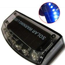 6 LED Solar Charger Car Burglar Alarm Lamp Sensor Security Warning Light