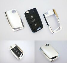 Seat Skoda VW Volkswagen Key Cover Case Skin Shell Cap Fob Protection Bag Chrome