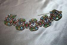 """Hollycraft"" Multi-Colored Crystal Bracelet"