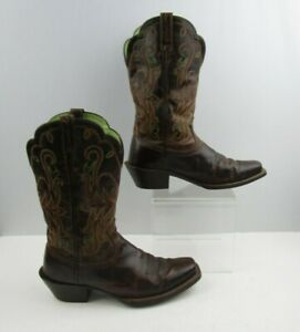 Ladies Ariat Brown Leather Western Cowgirl Boots Size : 7 B