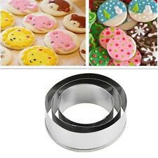 1Set Stainless Steel Round Circle Cookie Cutter Biscuit Pastry Slicer Molds New
