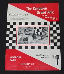Rare 1961 Inaugural Mosport Canadian Grand Prix Race Program Peter Ryan Lotus 19