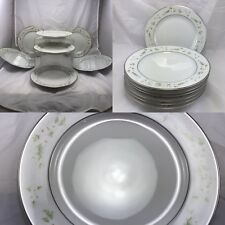 Daisy Wreath by H and C Selb Heinrich China Salad Plates  Set of 7