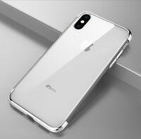 Housse Etui Coque Bumper Antichocs gel silicone TPU Apple iPhone 5/5s/5se argent