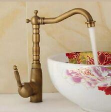 Gold Kitchen Bathroom Sink Tap Retro Victorian Mixer Faucet Brass   (22)