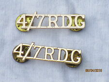4th/7th Royal Dragoon Guards, RDG, spalla titolo, alluminio anodised StayBright