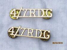 4th/7th Royal Dragoon Guards, RDG, Schultertitel,Anodised Aluminium Staybright