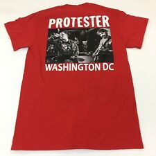 Triple-B Records Protester Shirt Punk Rock Small Red