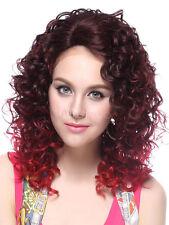 Urban Mode Wig Mahagoni Spirallocken Kanekalon geworfen Medium Womens Perücke