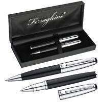 Ferraghini Schreibset aus Metall mit Kugelschreiber & Rollerball