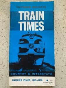 1969 1970 Victorian Railways time table train Melbourne VR country interstate