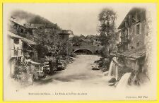 cpa ALLEVARD les BAINS (Isère) Le Bréda PONT de PIERRE Moulins Roue à Aubes