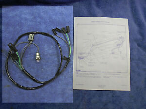 NEW CHEVY CORVAIR DELCO RADIO - HEATER WIRING HARNESS 60 61 62 500 - 700 SERIES