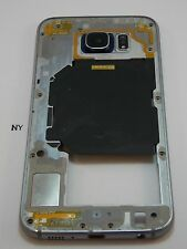 DK Blue Mid Frame Lens Loud Speaker Samsung Galaxy S6 SM-G920A AT&T OEM #411-A