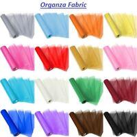10M 70CM Organza Fabric Voile Drape Curtain, Wedding Fabric,Sashes Table Runner