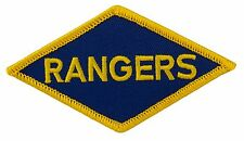 """Rangers WW II Embroidered Patch (047) 4"""" x 2 1/4"""" Embroidered Patch 27085"""
