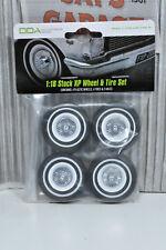 1:18 Scale Stock XP Falcon Wheel White 4pack [DDA003-W]