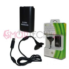 XBOX 360 X360 PLAY & CHARGE KIT BLACK R COMPATIBILE