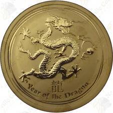 2012 AUSTRALIA 1/2 OZ .9999 FINE GOLD YEAR OF THE DRAGON -- SKU #11250
