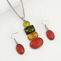Women Jewelry Set Female Stud Earrings Pendant Necklace Wedding Jewelry Set S