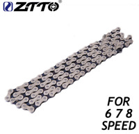 ZTTO Premium 6/7/8 Speed Bicycle Chain 116 Link Durable for Shimano Sram System