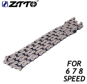 6/7/8 Speed BIke Chain Single Speed Fixed Gear Bicycle Durable Chain 116 Links